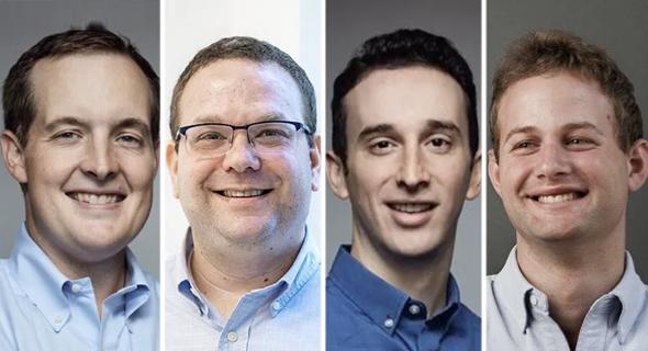 Operator Partners general managers Amit Avner (from right), Zach Weinberg, Gil Shklarski and Nat Turner. Photo: Courtesy