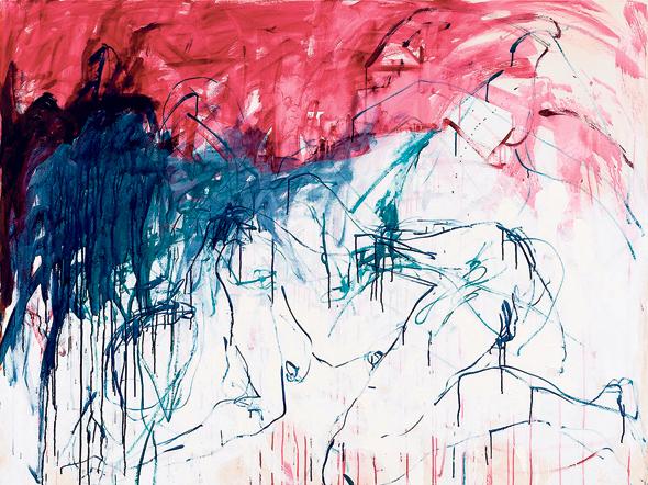 """ציור של אמין מתוך התערוכה. """"מאוהבת במונק"""""""