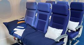 ערכת שינה מחלקת תיירים לופטהנזה , צילום: Lufthansa