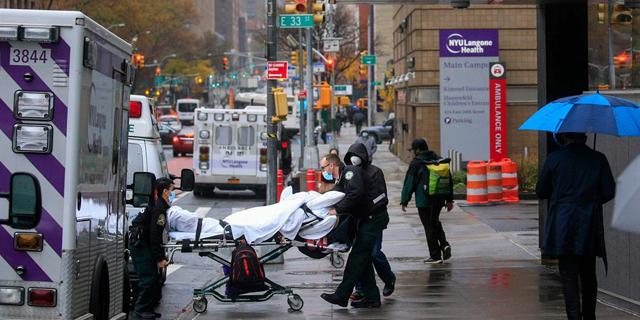 חולה קורונה ניו יורק, צילום: AFP