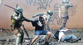דיכוי הפגנה ב צ'ילה 2019, צילום: אי פי איי