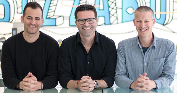 Bizzabo's co-founders Alon Alroy (left), Eran Ben-Shushan, and Boaz Katz. Photo: PR