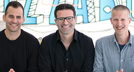 Bizzabo's co-founders Alon Alroy (left), Eran Ben-Shushan, and Boaz Katz. Photo: PR