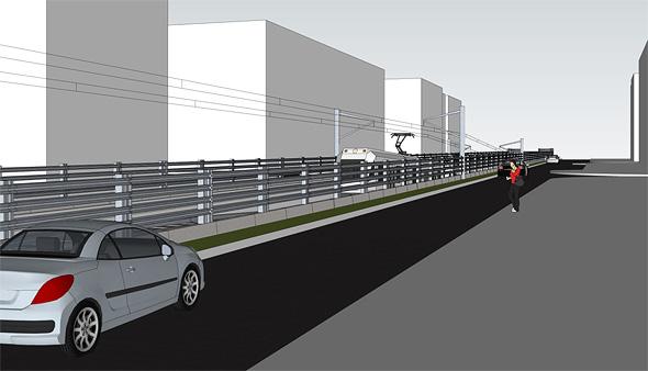 כך הפורטל חוצה רחובות שלמים ולא מאפשר מעבר.