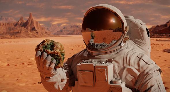 An astronaut encountering life on Mars (illustration) Photo: Shutterstock