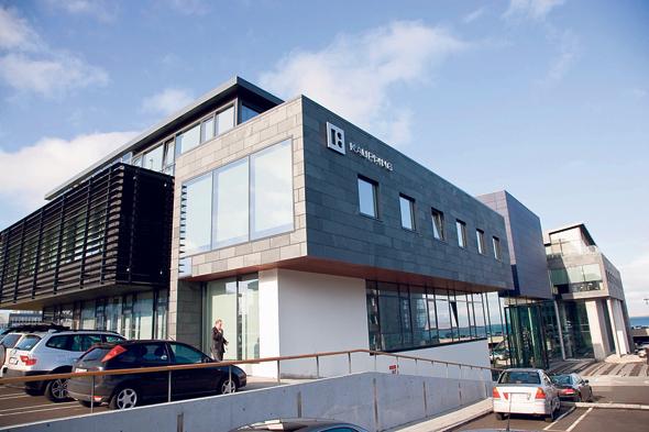 סניף בנק קאופתינג באיסלנד ב־2008. להלאמת הבנק היתה השפעה קשה על עסקיו של משה גרטנר