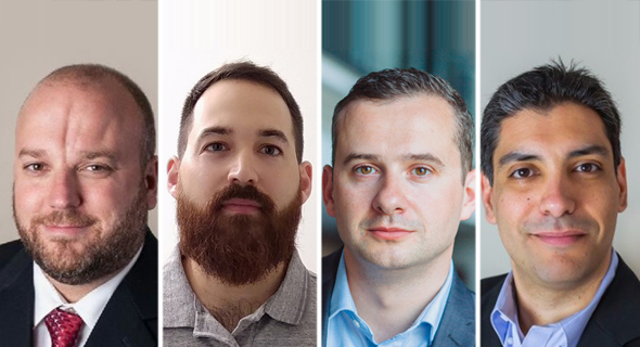 CyberArk experts Bryan Murphy (from left), Nir Chako, David Higgins and Shay Nahari. Photo: CyberArk