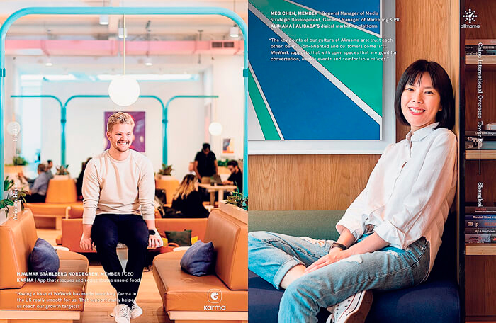 The photos that appeared in WeWork