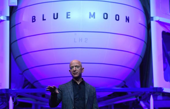 ג'ף בזוס חברת חלל בלו מון blue moon, צילום: רויטרס