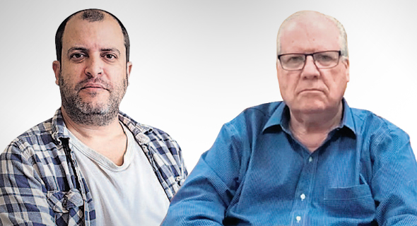 """מימין: מנכ""""ל שירביט צביקה ליבושור וההאקר נעם רותם. """"לא קיימים נהלים"""", צילום: יוטיוב, עמית שאבי"""