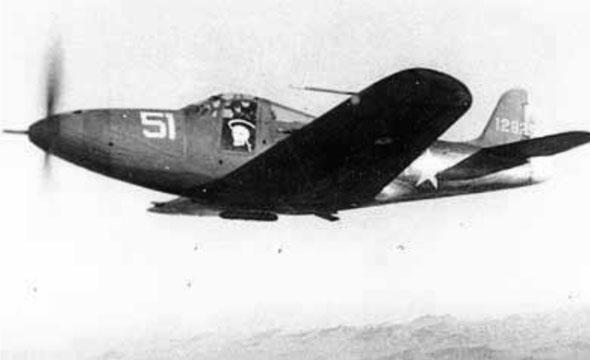 מטוס האירקוברה של ייגר, במהלך טיסת אימון