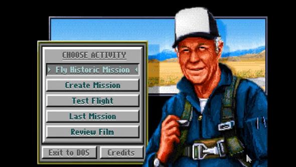 משחק המחשב הכי מפורסם של ייגר, Chuck Yeager's Air Combat