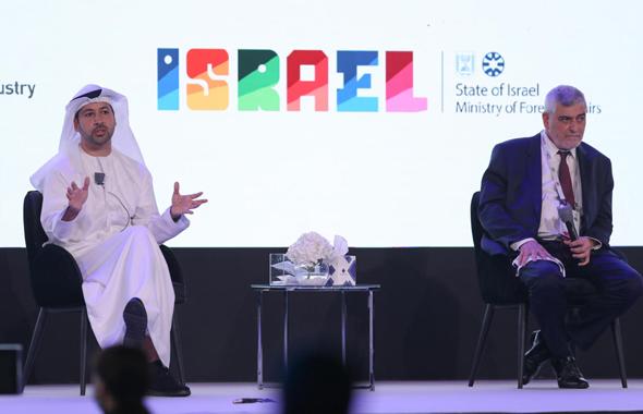 """מנכ""""ל הרשות לעסקים בינלאומיים בדובאי עריף אמירי ומנכ""""ל בנק הפועלים דב קוטלר"""