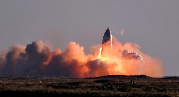 נחיתה לא מוצלחת של ספינת חלל של spacex (ארכיון), צילום: איי אף פי
