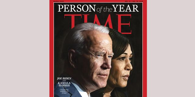"""מגזין """"טיים"""" בחר בג'ו ביידן ובקמלה האריס לאנשי השנה: """"חזון של ריפוי"""""""