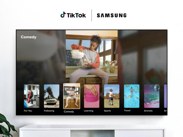 אפליקציית טיקטוק לטלוויזיות של סמסונג