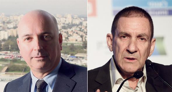 """מימין: יו""""ר חברת החשמל יפתח רון טל ומנכ""""ל מיטב דש אילן רביב"""