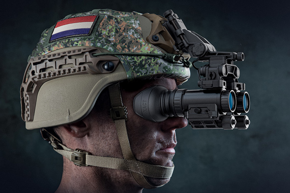 Elbit's night vision goggles sold to the Dutch military. Photo: Elbit