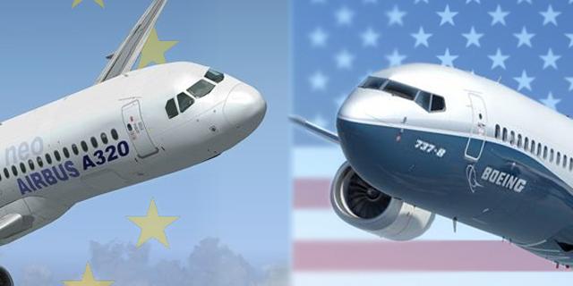 """ארה""""ב והאיחוד האירופי: המכסים על בואינג ואיירבוס מוקפאים זמנית"""