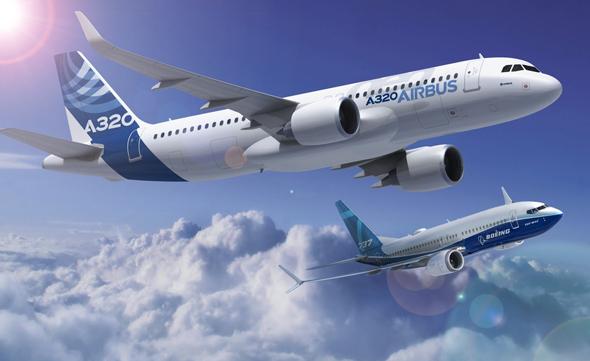 איירבוס A320 ובואינג 737, צילום: Boeing, Airbus