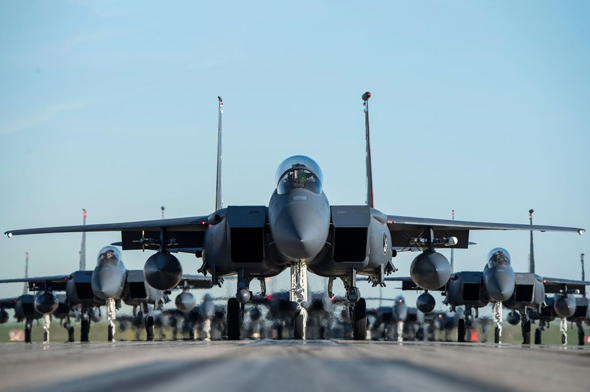 הומצא בידי מקדונל דאגלס, כיום שייך לבואינג. F15, צילום: USAF