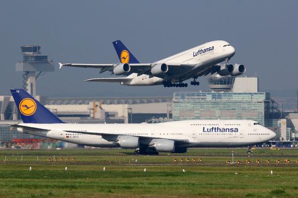 בואינג 747 ואיירבוס A380. נחשו מי הוא מי, צילום: שאטרסטוק