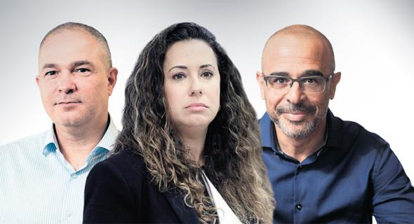 """מימין: מנכ""""ל פרטנר איציק בנבנישתי,, מנכ""""לית HOT טל גרנות גולדשטיין ומנכ""""ל IBC אמיר לוי. השימוע מציב את פרטנר """"במצב תחרותי מאתגר"""""""