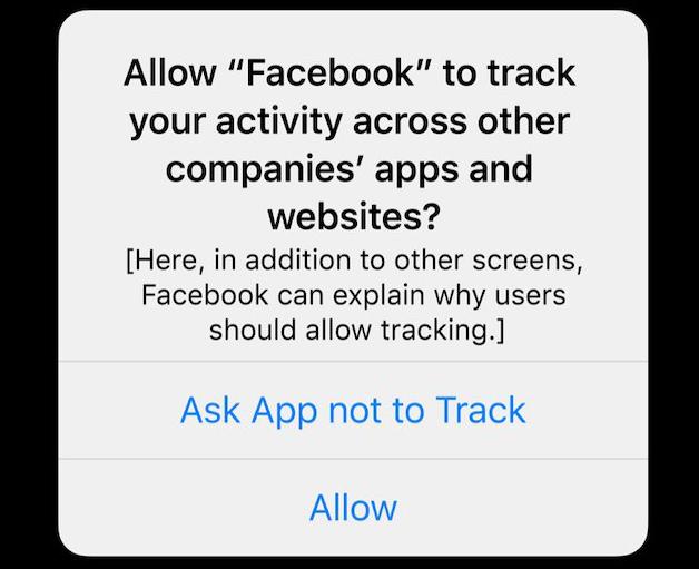 התראה במכשירי אפל על המעקב של פייסבוק