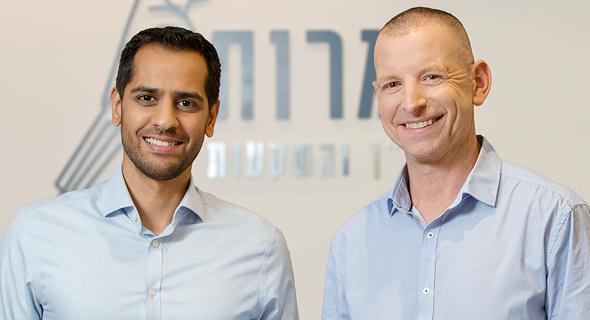 אמיר דננברג (מימין) ואלעד הדר. הפרויקט כדאי גם לעירייה