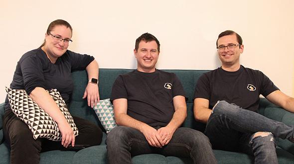Zesty.co 's Lori Brigg, Maxim Melamedov, and Alexey Baikov. Photo. Zesty Tech
