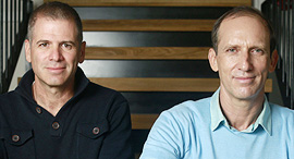 NetApp VP's Assaf Levy (right) and Roy Alon. Photo: Amit Shaal