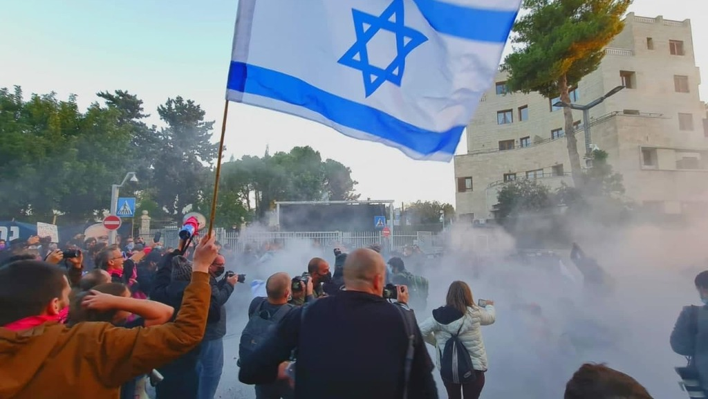 ההפגנה בבלפור, צילום: בן כהן)