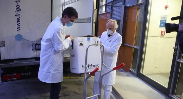 משלוח חיסונים מגיע לגרמניה