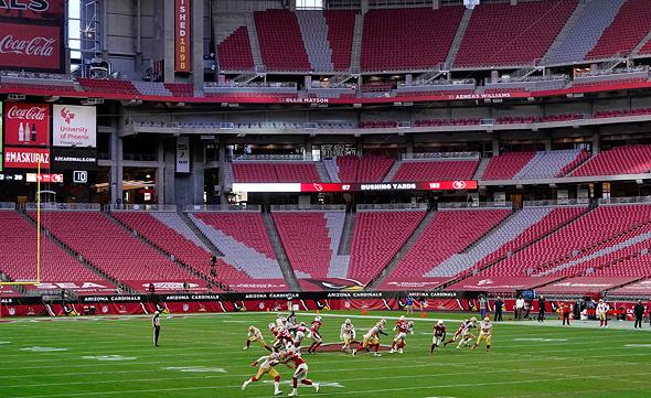 המשחק בין אריזונה לסן פרנסיסקו, צילום: איי פי