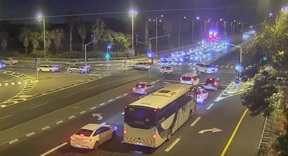 פקקי תנועה מיד אחרי כניסת הסגר, צילום: נתיבי ישראל