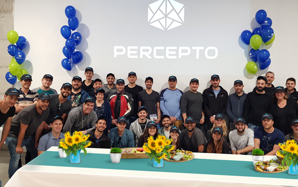 The team in the office. Photo: Percepto