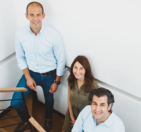 Janvest's Daniel Frankenstein, Dafna Winocur Biran, and Brian Rosenzweig. Photo: Janvest Capital Partners