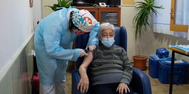חיסון לקורונה בספרד, צילום: גטי