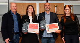 The winners of the StartUp+ competition. Photo: Orel Cohen