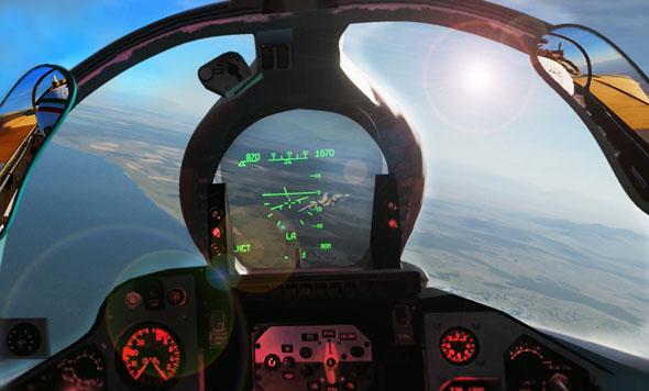 F14 בכוונת של מיג 23 (אילוסטרציה), צילום: DCS F14