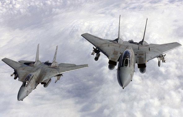 זוג F14 בפטרול, צילום: USN