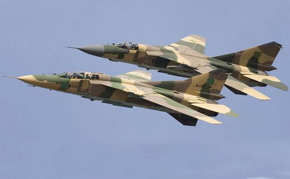 זוג מטוסי מיג 23 של חיל האוויר הלובי, צילום: militarywatchmagazine