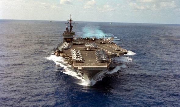 חשבון עם לוב. ספינות הצי השישי, צילום: NARA