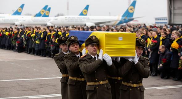 הלווית הרוגי התרסקות המטוס האוקראיני שנפל באיראן. 176 נוסעים נהרגו