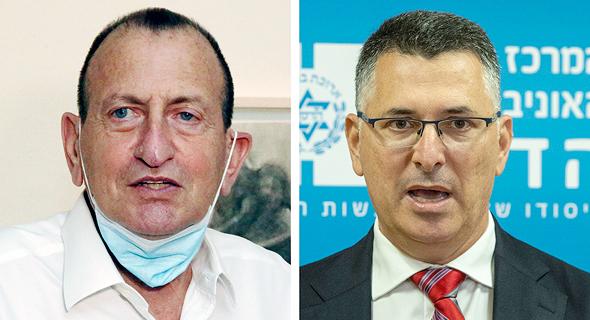 מימין גדעון סער ו רון חולדאי, צילום: עמית שאבי, שאול גולן