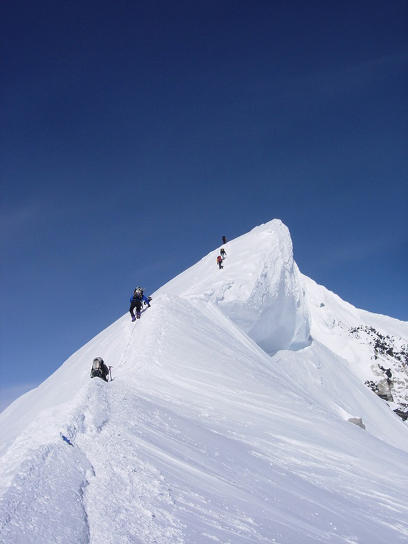 Climbing to the McKinley peak