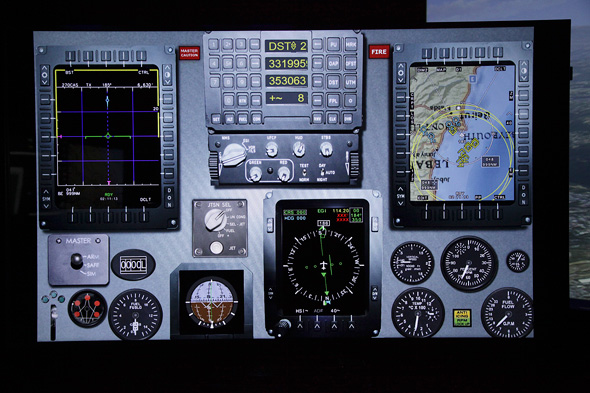 סימולטור של התעשייה האווירית, מקור: התעשייה האווירית