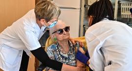 חיסון לקורונה במונפלייה, צרפת, צילום: איי אף פי