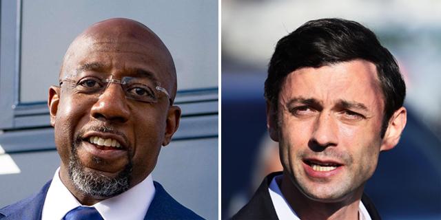 דמוקרטים ישלטו בסנאט: ג'ון אוסוף ורפאל וורנוק נבחרו בג'ורג'יה