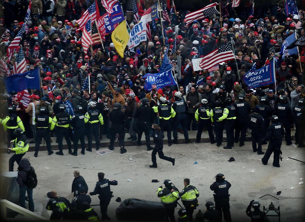העימותים מחוץ לקונגרס, צילום: AFP